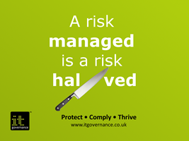 A risk managed is a risk halved