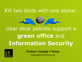Clear desk policies support a green office and information security