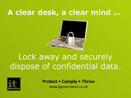 Lock away and securely dispose of confidential data