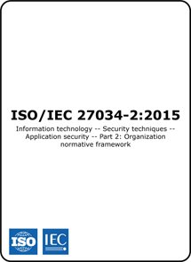 ISO/IEC 27034-2 2015 (ISO 27034-2 Standard) – Organisation normative framework for application security