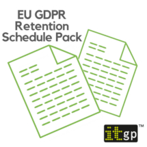 EU General Data Protection Regulation (GDPR) Retention Schedule Templates