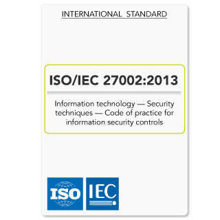ISO/IEC 27002:2013 (ISO27002 ISO 27002) Code of Practice for InfoSec Controls